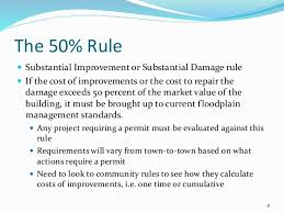 What is the FEMA 50 percent rule?